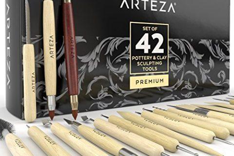 Arteza Pottery & Clay Sculpting Tools Set of 42