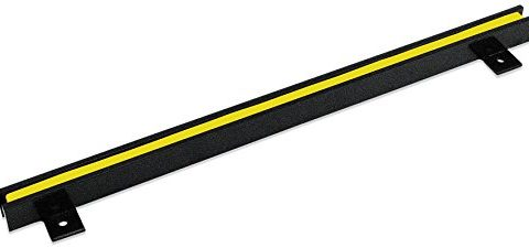 Master Magnetics AM4PLC Magnetic Tool Holder, 18″ Wide, 20 lb per inch, Black Powder Coat with Yellow Stripe