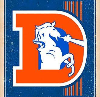 Trends International Denver Broncos Retro Logo Wall Poster 22.375″ x 34″