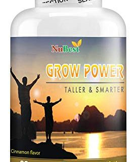 Grow Power Pills – Maximum Natural Growth Height Formula for Children and Teens-Height Growth Supplement – How to Grow Taller | 60 Veggie Capsules