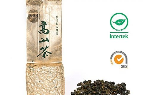 Yan Hou Tang Organic Taiwan Green Oolong Tea Caffeine Loose Leaf Four Seasons Spring Fragrance Taste Formosa High Mountain Ali Shan LiShan SunLinkSea Grown Raw Low Fermert for Detox Weight Loss