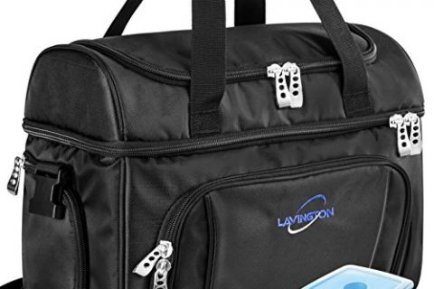 Picnic and Travel Lunch Box- Multiple Pockets & Insulated Compartments – Lavington Insulated Cooler Bag – Strongest SBS Zippers & Handles – Large Lunch Bag