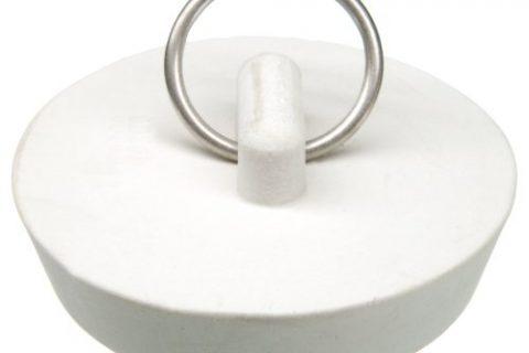 Danco 1-3/4-Inch Rubber Drain Stopper, White, Carded, 88272