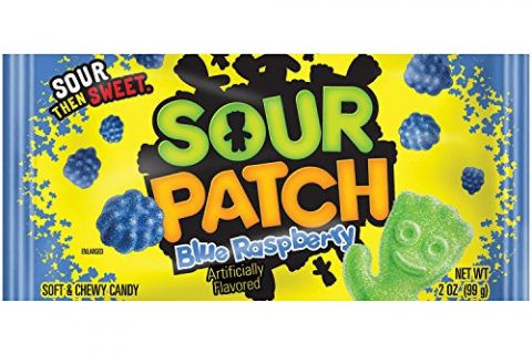 Sour Patch Kids Candy, Blue Raspberry, 2 Ounce Pack of 24