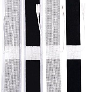 Syrtenty TENS Unit Electrodes Pads 1.5×13 inch 4 Pcs Replacement Pads Electrode Patches For Electrotherapy