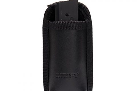 LIRISY Single Pistol Magazine Pouch | Outside The Waistband OWBMag Holder | Single and Double Stack Mag Holster for 9mm/.40 cal/380