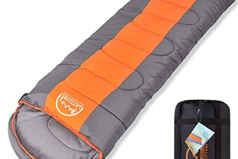 LATTCURE Sleeping Bag, Comfort Portable Lightweight Envelope Sleeping Bag with Compression Sack for Camping,Hiking,Backpacking,Traveling and Other Outdoor Activities -Single75″+12″ x33