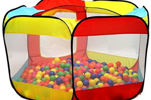 Kiddey Ball Pit Play Tent for Kids – 6-sided Ball Pit for Kids Toddlers and Baby – Fill with Plastic Balls Balls Not Included or Use As an Indoor / outdoor Play Tent
