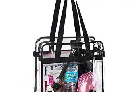 12x6x12 – BAGS for LESS Clear Tote Stadium Approved with Handel And Zipper