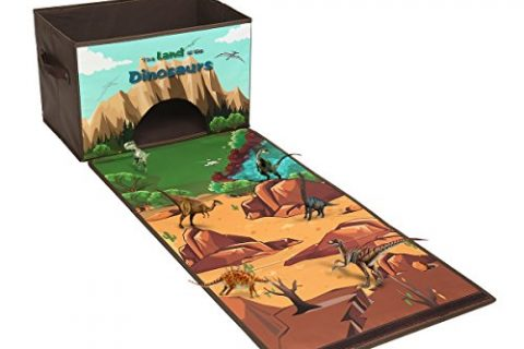 Livememory Dinosaurs Kids Toy Storage Box Play Mat Toys Storage Bin Not Included Dinosaurs-Brown
