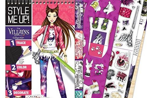 Disney The Villains Collection – SMU-2012 – Style Me Up – Fashion Design Coloring Sticker Book for Girls