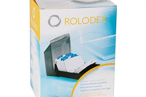 Rolodex Petite Covered Tray Card File with 2.25 x 4 Inch Cards and 9 Guides 67093