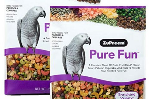 Pure Fun Bird Food for Parrots & Conures by ZuPreem,NET WT 2LB 907g 2-Pack