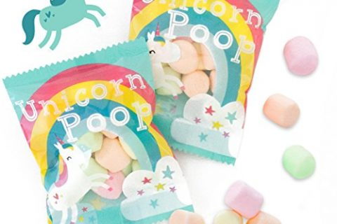 Marshmallows Bulk Treat Packs – Unicorn Poop Candy – MADE IN THE USA – 24 Party Supplies Bags Favors for Kids – Lularoe