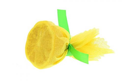 Royal Flat Yellow Lemon Wraps with Green Ribbons, Package of 250