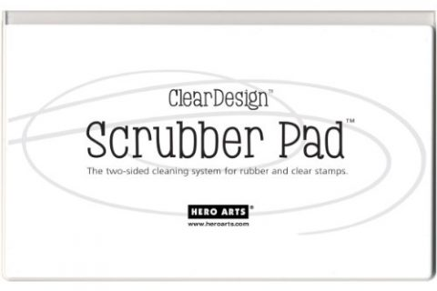 Hero Arts Clear Design Scrubber Pad, 7.5 by 4.5-Inch