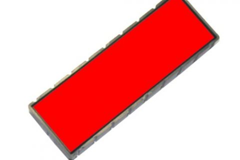 Cosco 2000 Plus E12 Replacement Pad, Dry, Red Ink