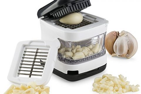 Easily Slice or Cube Garlic Cloves Without The Mess. – Kitchen Gizmo, Garlic Press- Innovative 3-in-1 Garlic Cube, Slicer, Chopper, Crusher and Dicer