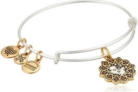 Alex and Ani Women's Gemini Two Tone Bangle Bracelet