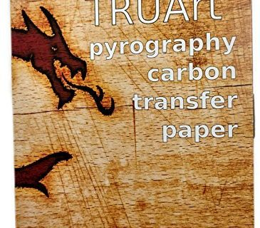 TRUArt Two Sided Carbon Transfer Blue Tracing Paper for Woodworking and Transferring or Mirroring Wood Burning Patterns – 100 Sheets Blue