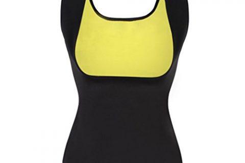 Dolland Womens Hot Sweat Body Shaper Tank Top Tummy Fat Burner Slimming Vest Weight Loss Shapewear ,Black L