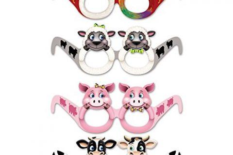 Beistle 54828 Farm Animal Eyeglasses, 12 Eyeglasses In Package