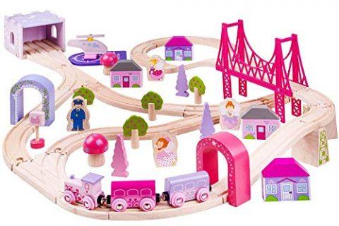 75 Play Pieces – Bigjigs Rail Wooden Fairy Town Train Set