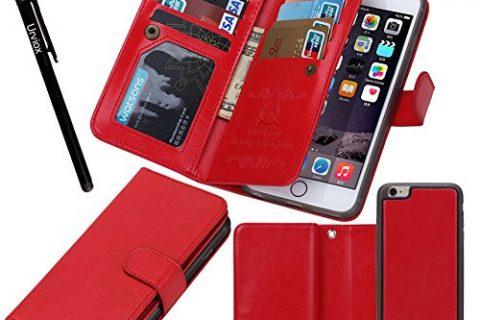 "Urvoix for Apple iPhone 6 Plus / 6S Plus 5.5"", Wallet Leather Flip Card Holder Case, 2 in 1 Detachable Magnetic Back Cover iPhone6 Plus / iPhone6S Plus NOT for iphone6"