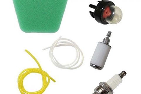 HURI Air Filter Fuel Filter Fuel Line Spark Plug for Mcculloch Chainsaw 3210 3214 3216 3516