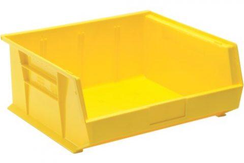 Edsal PB8505Y High Density Stackable Plastic Bin, 16″ Width x 7″ Height x 14″ Depth, Yellow Pack of 6