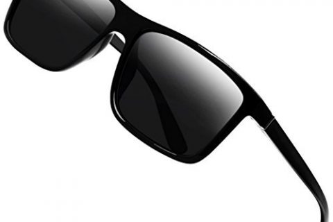 Polarized Sunglasses for Men Driving Mens Sunglasses Rectangular Vintage Sun Glasses For Men/Women Black