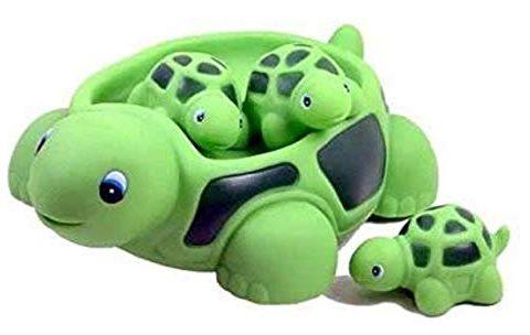 Playmaker Toys Turtle Family Bath Setsset of 4 – Floating Bath Tub Toy