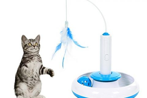 Electric Rotate Best Interactive Cat Feather Toys Teaser Motion Kitten Toys Cat Toy