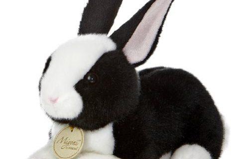 Aurora World Miyoni Dutch Bunny Black and White 8″ Plush