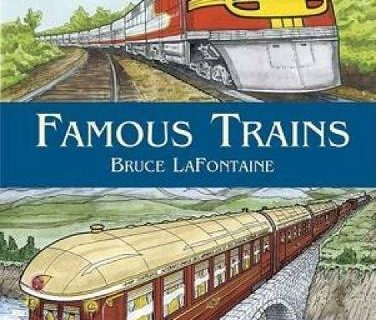 Famous Trains Dover History Coloring Book
