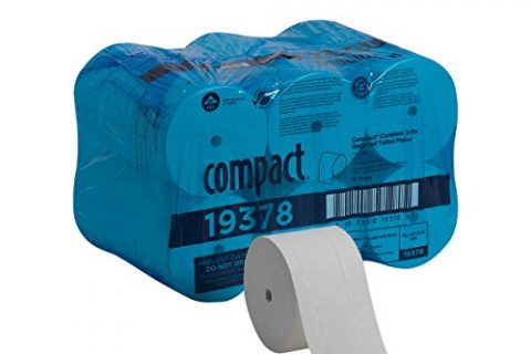 Compact Coreless 2-Ply Recycled Toilet Paper by GP PRO Georgia-Pacific, 19378, 1500 Sheets Per Roll, 18 Rolls Per Case