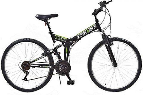 Stowabike 26″ MTB V2 Folding Dual Suspension 18 Speed Shimano Gears Mountain Bike