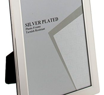Viceni Plated Flat Edge Photo Frame, 5 by 7-Inch, Silver Plated