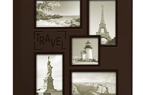 Pioneer Sewn Embossed Collage Frame 5-Up Photo Album 12″X12″-Travel