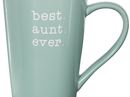 Pavilion Gift Company 14140 Best Aunt Ever Stoneware Latte Mug, 18 oz, Multicolored