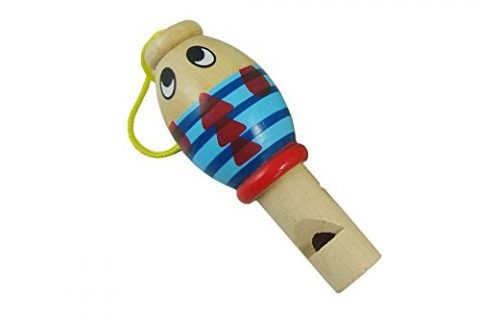 Skytoy Slide Whistle Wood for Kids Music Sound Animal Type