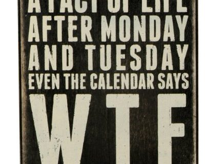 Primitives by Kathy Classic Box Sign, 6″ x 7″, Even The Calendar Says WTF