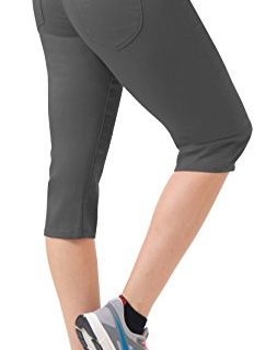 Women's Butt Lift Super Comfy Stretch Denim Capri Jeans Q43308 Gun Metal 1