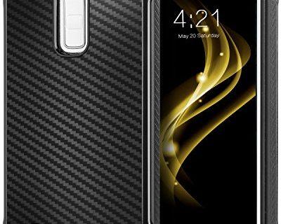 LG K10 Case, LG Premier LTE L62VL L61AL Case, BENTOBEN 2 in 1 Hybrid Hard PC TPU Bumper Carbon Fiber Texture Chrome Shockproof Protective Case for LG K10 2016/LG Premier LTE L62VL L61AL, Black