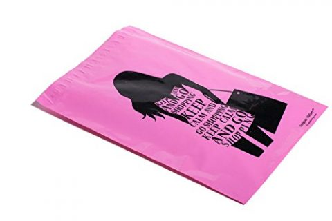 10×13 Pink Go Shopping Poly Mailers Shipping Envelopes UpakNShip Brand 100