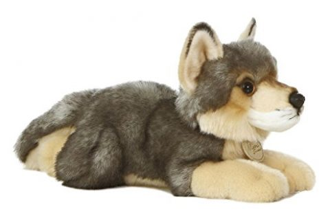 Aurora Plush Wolf Medium 10.5″