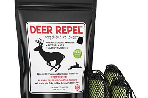 10 Pack – Deer Repel Deer Repellent Plants Pouches Stop Deer Rabbits Eating Plants Trees Gardens & Orchards, Long Lasting, Chemical Free