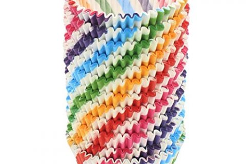 Zicome 300 Count Paper Cupcake Baking Cups Liners, Standard Size, Rainbow Color