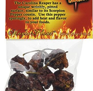 Magic Plant Dried Carolina Reaper Pepper Whole Pods, 1/4 oz.