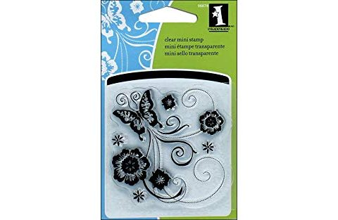 Inkadinkado Butterfly Scroll Clear Stamp
